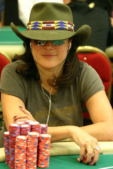 Jennifer Tilly at WPT LA Poker Classic on Day 4
