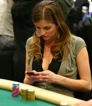 Trishelle Cannatella Playing Poker at the WPT Invitational
