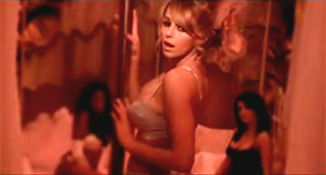 Keeley Hazell gets sort of naked for her Voyeur music video
