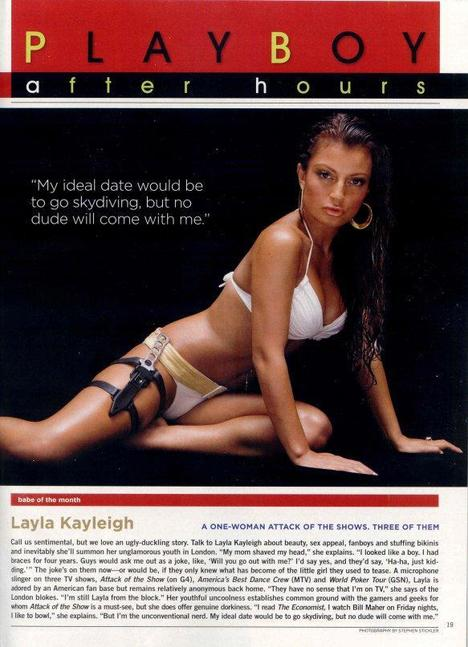 Layla Kayleigh in Playboy