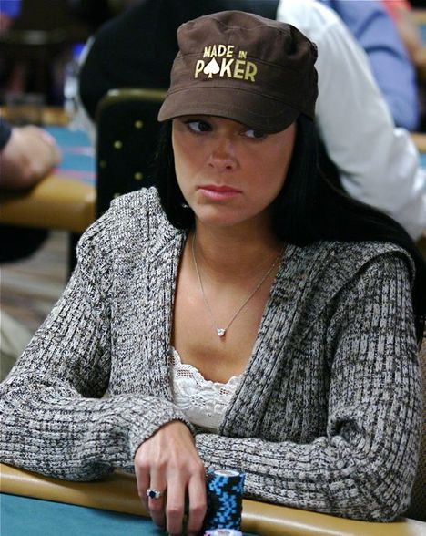 Kind of cute girl playing the 2008 World Series of Poker