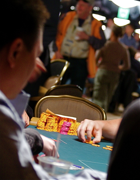 Vinnie Vinh's chair at 2008 WSOP