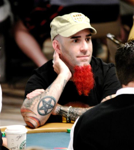 Scott Ian of Anthrax is today's ginger at the 2008 WSOP