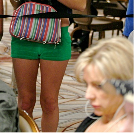 Jen Harman gets railed by chick with camel toe at 2008 WSOP