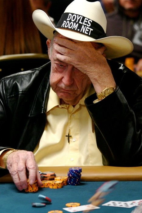Doyle Brunson playing poker in the H.O.R.S.E. event at the 2008 WSOP