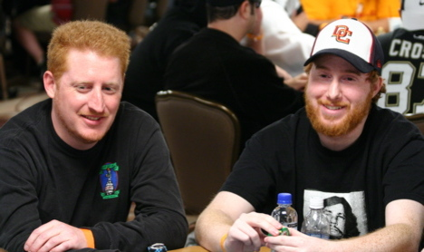 Ginger and Gingerer at the 2008 WSOP