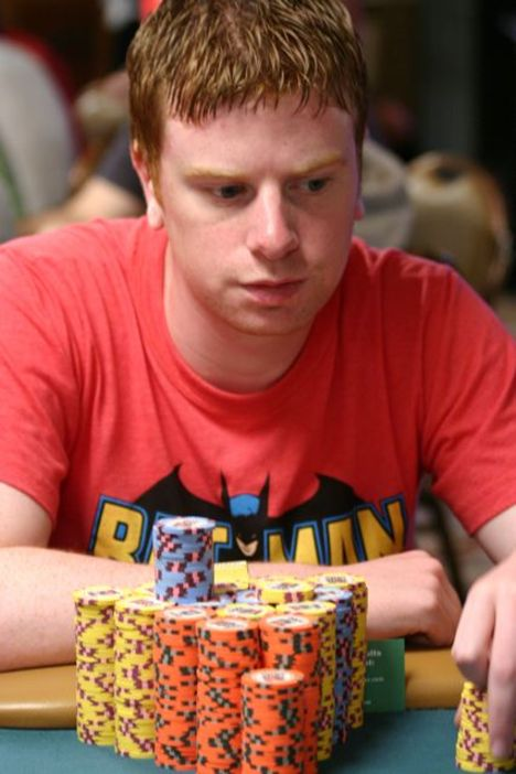 James McManus is chipleader on Day 5 of the 2008 WSOP