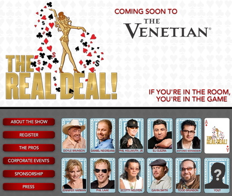 The Real Deal is the new poker-themed show in Las Vegas at the Venetian