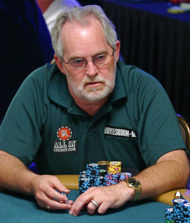 Tom Franklin in Seniors Event at 2008 WSOP