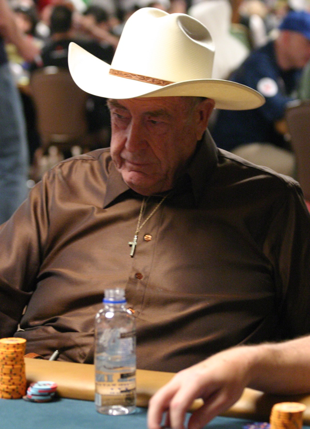 Doyle Brunson playing in the HORSE Event at the 2008 WSOP without DoylesRoom.net