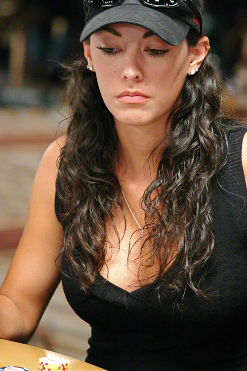 Hot girl photo at 2008 WSOP Main Event