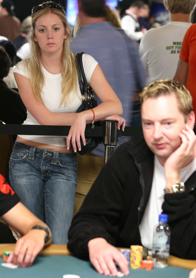 Poker pro Arnold Spee is in this photo at the 2008 WSOP