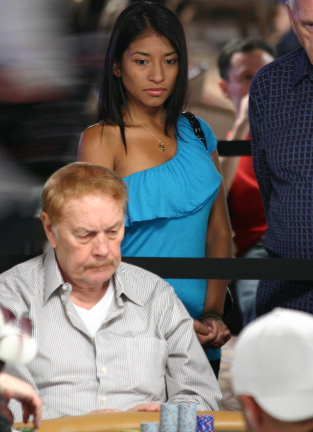 Jerry Buss and his Exotic Rail Girl