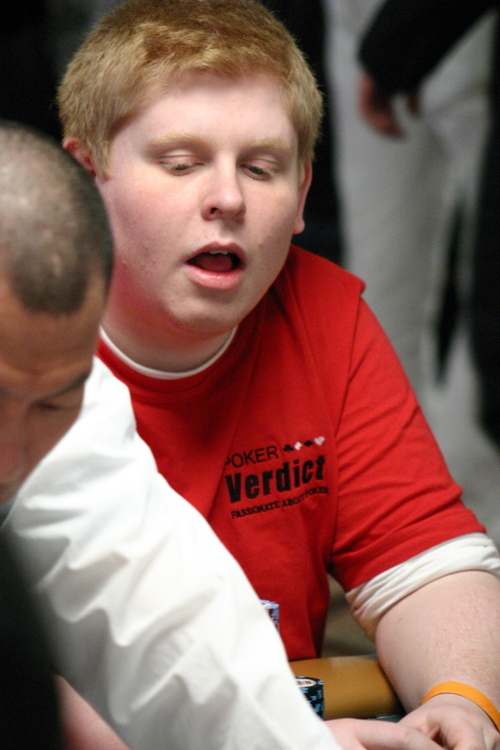 Tony Phillips is the Ginger of the Day at the 2008 WSOP