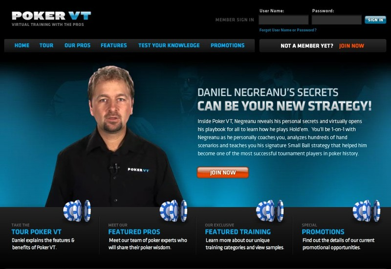 Daniel Negreanu's Poker VT, a poker instruction website, launches